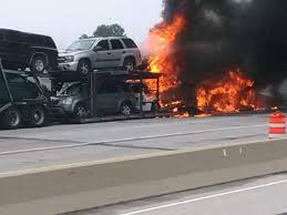 Semi-trailer Fire On I-94 Destroys Six Vehicles | Local News ...
