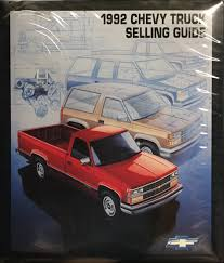 100 Value Of Truck 1992 Chevrolet Guide Sales Training Album Original Canadian