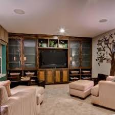 Rustic Entertainment Center In Family Room