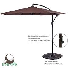 9 Ft Patio Umbrella With Crank by Best Cantilever Umbrella Best Offset Umbrella Reviews Outsidemodern