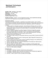 X Ray Technologist Job Description 2 Sample Radiologist Examples In Word For Technician Resume Tech