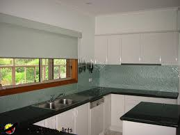 Pearl Splashback In Modern White Kitchen