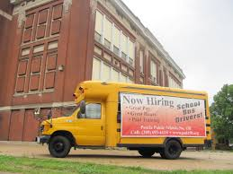 Lensing And Shuttering: School Bus Advertising Bus Driver Jobs Available