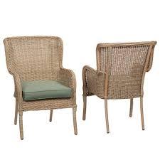 100 Mainstay Wicker Outdoor Chairs Hampton Bay Lemon Grove Stationary Dining Double