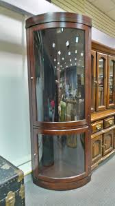 Curved Glass Curio Cabinet Antique by Antique Glass Display Cabinet Edgarpoe Net