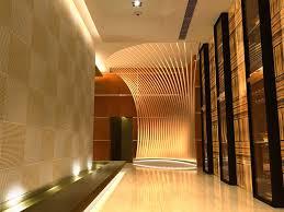 interior futuristic restaurant corridor interior design