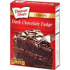 Duncan Hines Classic Dark Chocolate Fudge Cake Mix 16 5 oz Box Walmart