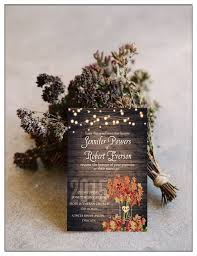 Woodland Country Rustic Wedding Invitations With Free Rsvp Cards Ewi395 Chic