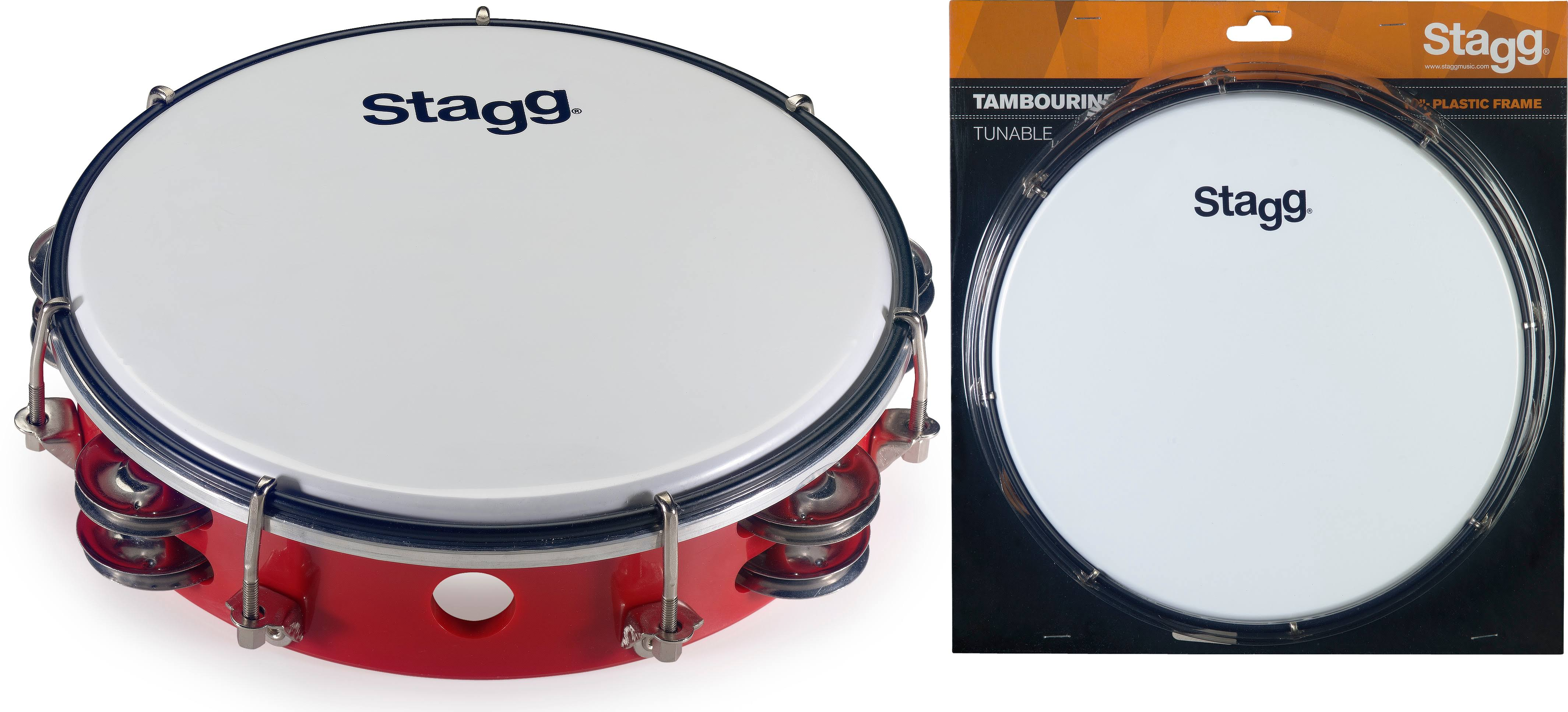 "Stagg TAB-208P/RD 8"" Tuneable Plastic Tambourine"