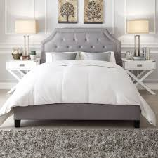 King Platform Bed With Fabric Headboard by Bedroom Wood Platform Bed Frame King Platform Bed Designs White