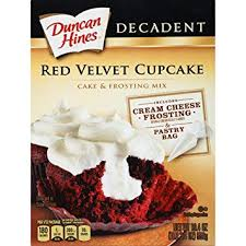 Duncan Hines Decadent Cupcake Mix Red Velvet 194 Oz Amazon
