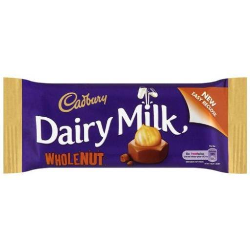 Cadbury Dairy Milk Wholenut: 48-Piece Box by Planet Candy