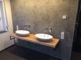 waschtisch waldkante platte holz eiche bad konsole gäste wc