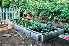 concrete block garden bed Home Design And Decor