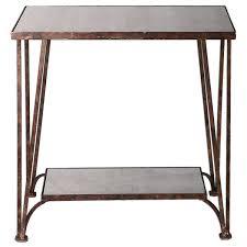 Uttermost Ranen Aged White Accent Table 25623 Uttermost