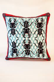 Bugs Needlepoint Kit with Stitch Painted Canvas