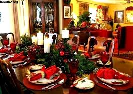 Christmas Dinner Table Decorations Centerpieces Dining Decorating