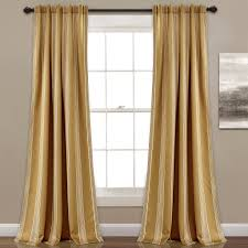 Vertical Striped Curtains Panels by Julia Stripe Room Darkening Window Curtain Set Lush Décor Www
