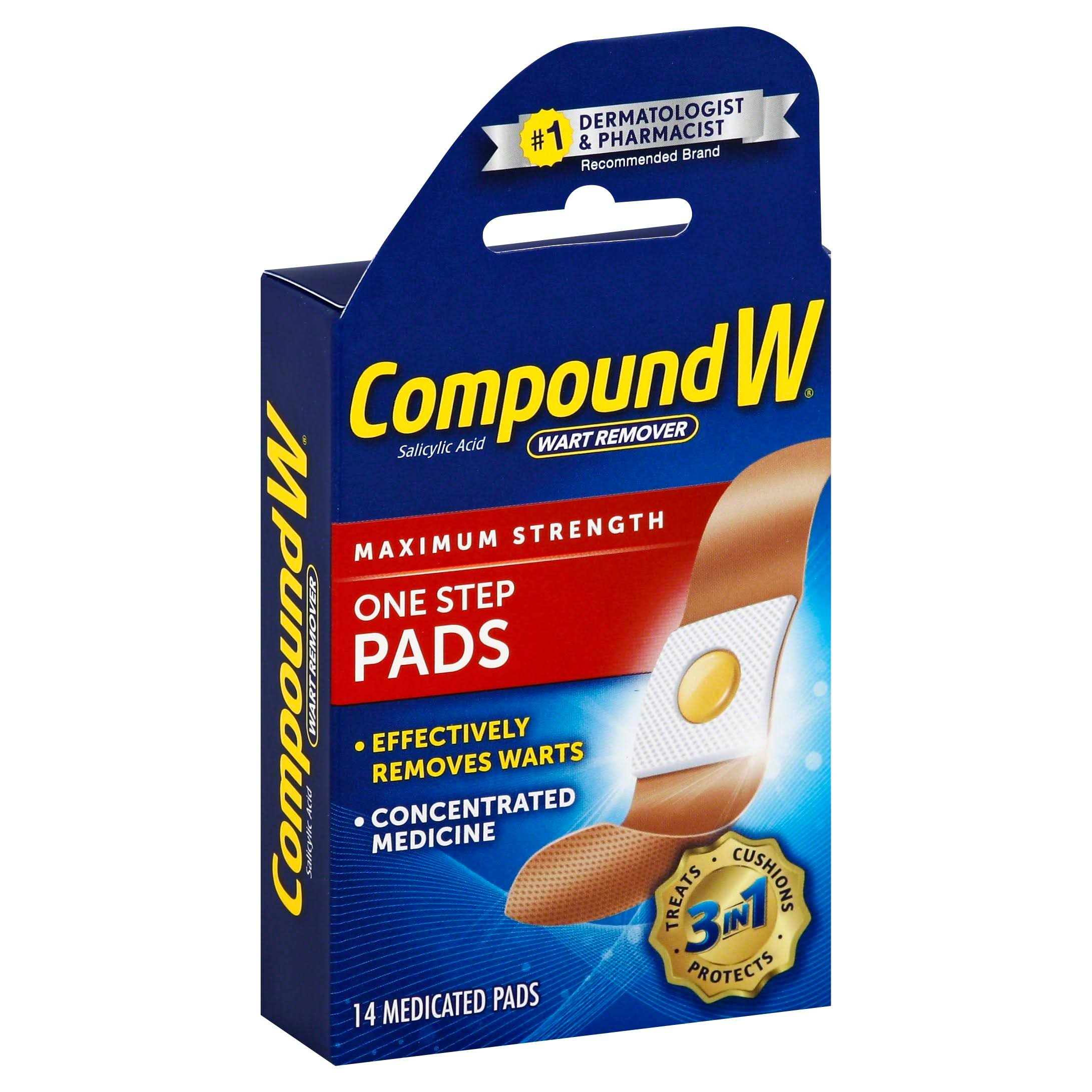 Compound W Wart Remover One Step Medicated Pads - 14 Pack