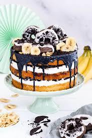 schoko bananen torte mit oreo donuts