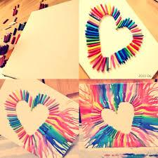 DIY Crayon Heart Art LOVE
