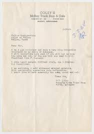 100 Truck Stop Dallas Letter From O T Coley To Chief Of Police February 28 1964