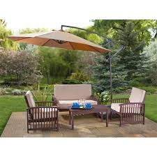 Furniture: Charming Cantilever Umbrella For Inspiring Patio Or ... Belham Living Meridian Round Outdoor Wicker Patio Fniture Set Best Choice With Walmart Charming Cantilever Umbrella For Inspiring Or Cversation Sets Lounge The Home Depot Stunning Metal Deep Seating Gallery Gylhescom Outdoor Wicker Patio Fniture Sets Sears Clearance Jbeedesigns How To Choose The Material For Affordable