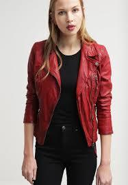 oakwood leather jacket red women clothing jackets w oa121l004