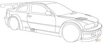 Click The BMW Racing Car Coloring Pages