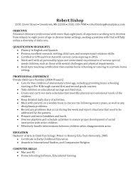 Basic Nanny Resume Example