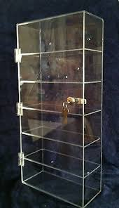Acrylic Display Case 12 X 45 X235 Locking Security ShowCase Wallmount Avail