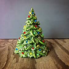 Small Vintage Ceramic Christmas Tree