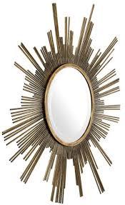 casa padrino designer spiegel vintage messing ø 82 cm garderobenspiegel wohnzimmer spiegel luxus wandspiegel