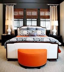 25 Sleek Orange Accents Bedroom Ideas