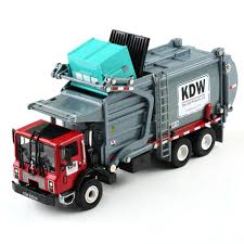 100 Diecast Garbage Trucks 124 Material Transporter KDW G Scale Model