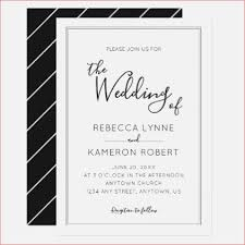 Black And White Simple Elegant Wedding Card Invitations