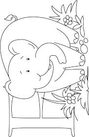E For Elephant Coloring Page Kids