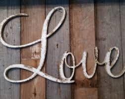 White Shabby Chic Rustic LOVE Sign CUSTOMIZE Your Own WORD Wedding Decor Farmhouse Photo Prop Cottage