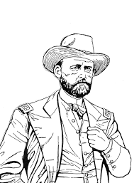 Ulysses S Grant The American General Of Civil War Times Coloring Page