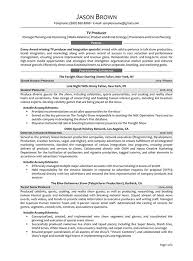 Media Resume Examples