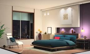 3d Bedroom Design Captivating Decor Purple And Yellow Walls