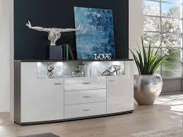 glasgow sideboard wohnwand wohnzimmer weiß hochglanz anthrazit