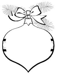 Print Christmas Ornaments Decoration Coloring Pages