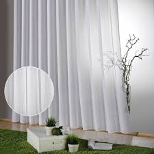 transparent farbe weiß fertig store mit kräuselband