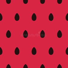 Download Seamless Pattern With Black Watermelon Seeds Stock Vector Illustration of repeat texture