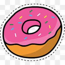 Pink Donut Cute Cartoon Doughnut PNG And Vector