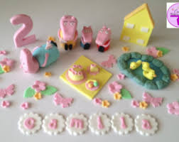 peppa pig cake decorations peppa pig and george family edible cake topper sugar fondant