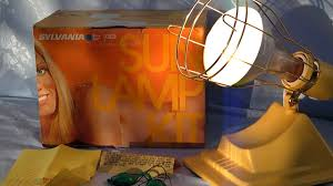 Tanning Lamps For Legs by Vintage 80s Sylvania Electric Sun Lamp Tanning Light Youtube