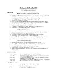 Medical Coding Resume Certified Coder General