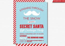 Download Our Sample Of Secret Santa Invitation Gift Exchange Party Printable Holiday